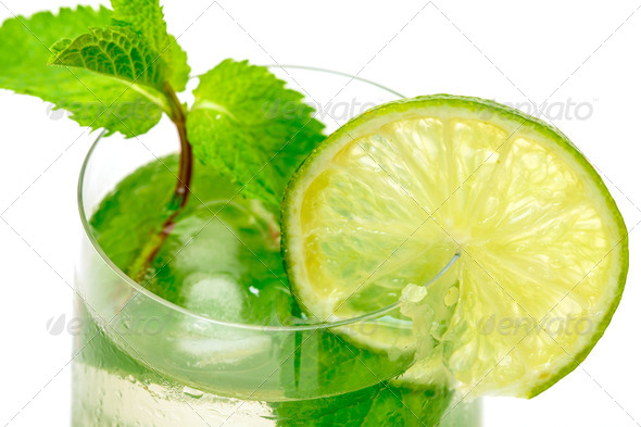 Mojito Cocktail in a Glass Beaker - Stock Photo - Images