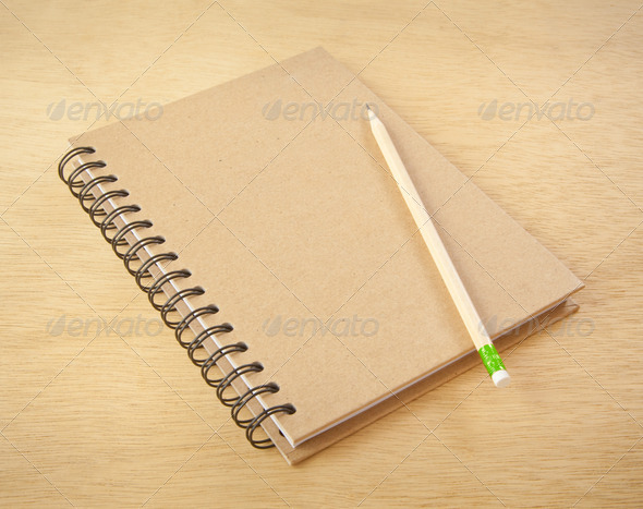 recycle notebook - Stock Photo - Images