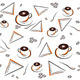 Coffee pattern on white - GraphicRiver Item for Sale