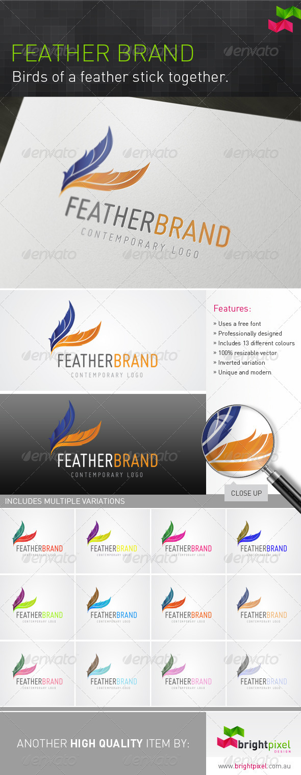 Feather Brand - Nature Logo Templates