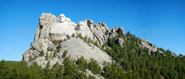 Mount Rushmore monument in South Dakota - Stock Photo - Images