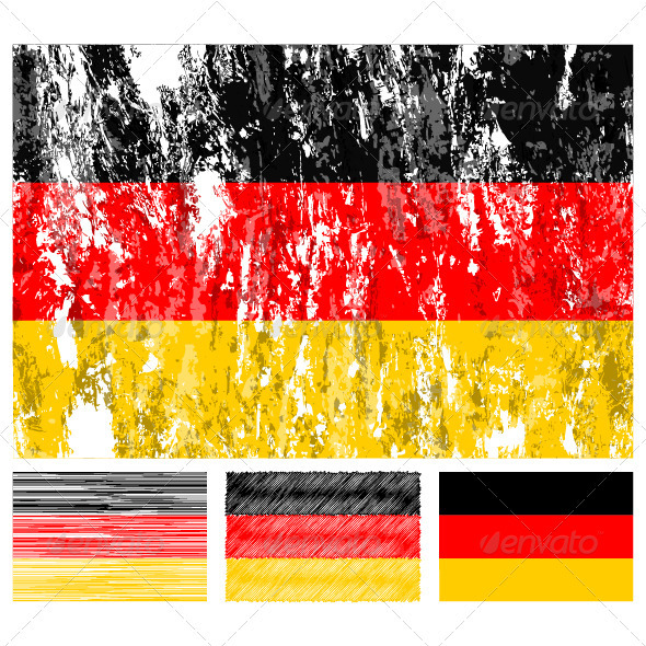 Germany grunge flag set - Conceptual Vectors
