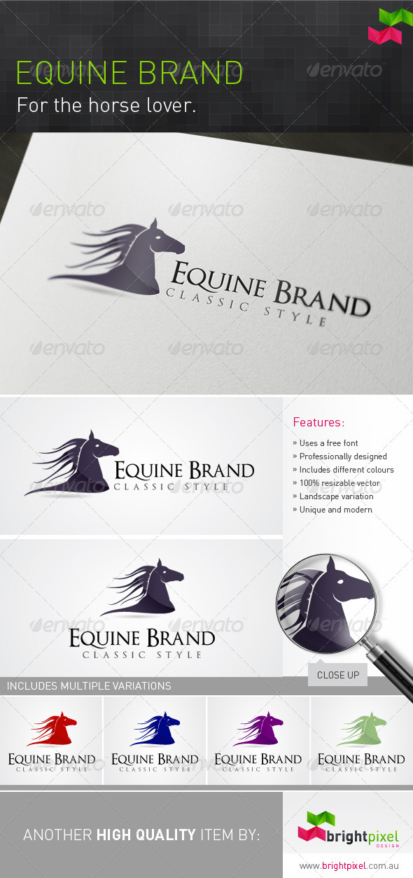 Equine Brand - Animals Logo Templates