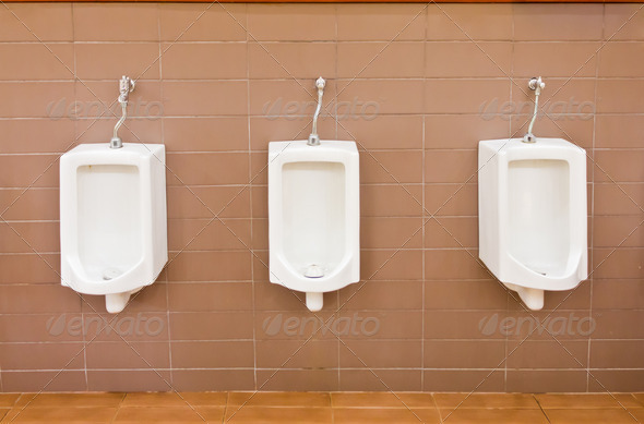 white ceramic toilet - Stock Photo - Images