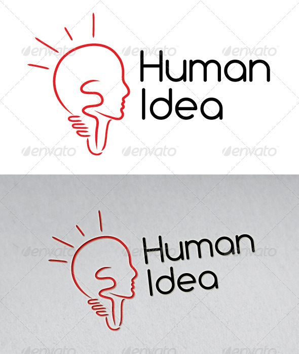 Human Idea Logo - Humans Logo Templates