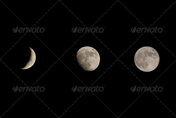 Moon phases - Stock Photo - Images
