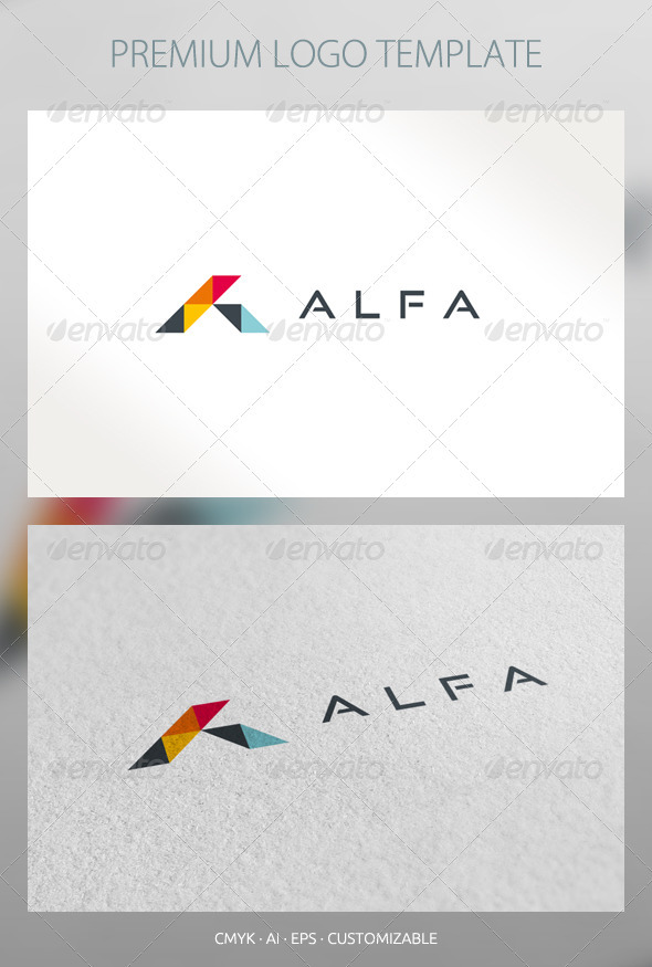 Alfa - Abstract Logo Template - Abstract Logo Templates