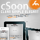 cSoon - The Clean Coming Soon Page