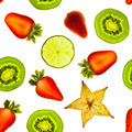 Seamless pattern made from fruit slices. Photo illustration. - PhotoDune Item for Sale