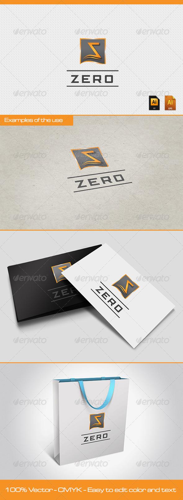 GraphicRiver ZERO Logo Template 2575148