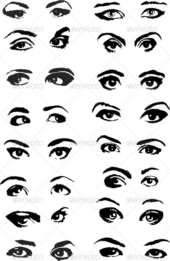 Eye Woman Set - Health/Medicine Conceptual