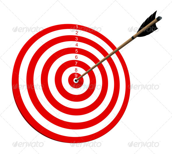 On target - Stock Photo - Images