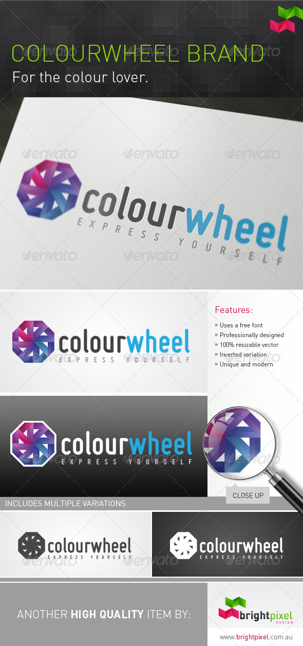 Colourwheel Brand - Abstract Logo Templates