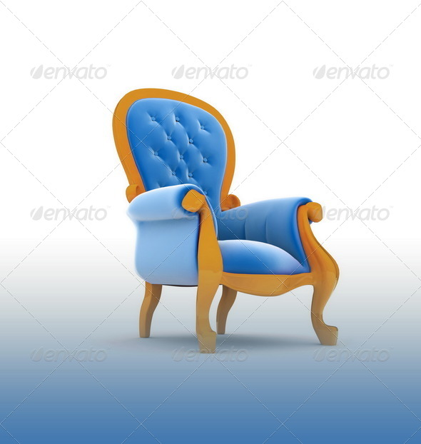 Armchair isolated - Stock Photo - Images