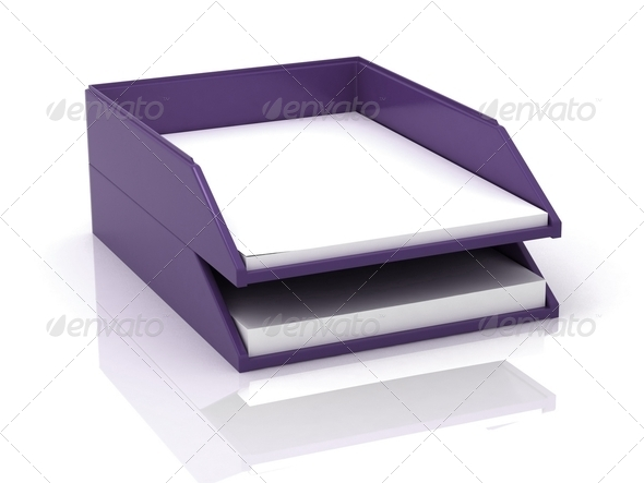 Trays for Papers - Stock Photo - Images