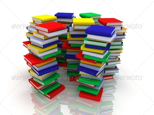 Stacks of Books - Stock Photo - Images