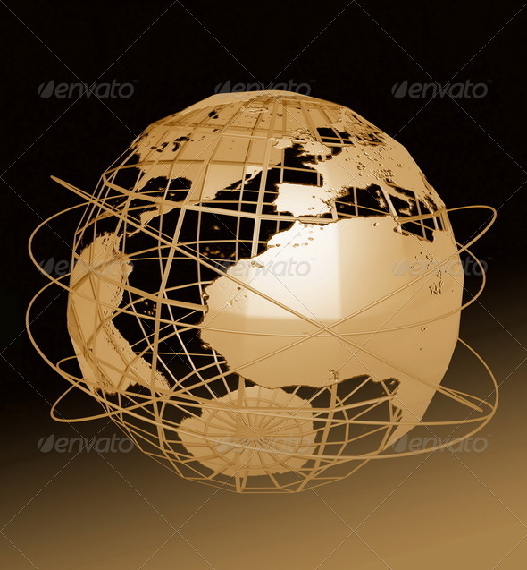 Globe Art - Stock Photo - Images