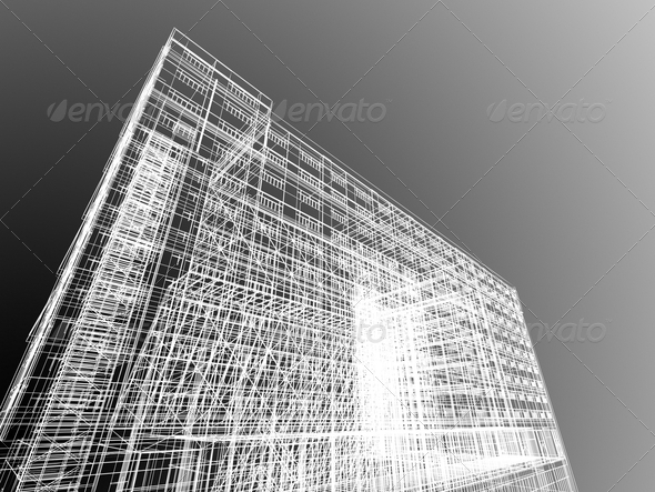 Abstract skyscrapers - Stock Photo - Images