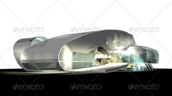 modern architecture 3d render - Stock Photo - Images