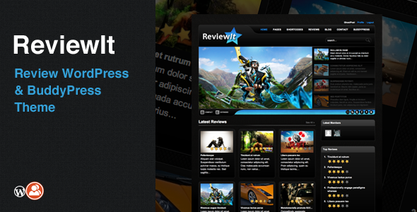 ThemeForest ReviewIt Review WordPress & BuddyPress Theme 109666