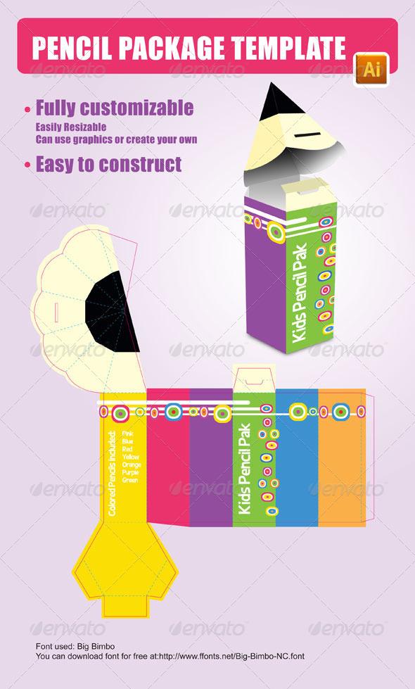 Pencil Package Template 设计素材下载