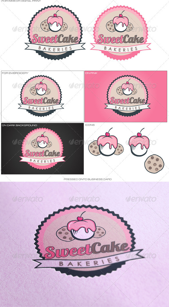 Sweet Cake - Food Logo Templates