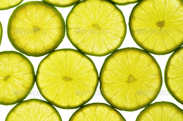 Lime slices - Stock Photo - Images