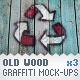 Old Wood - 3 Graffiti Street Art Mockups - GraphicRiver Item for Sale