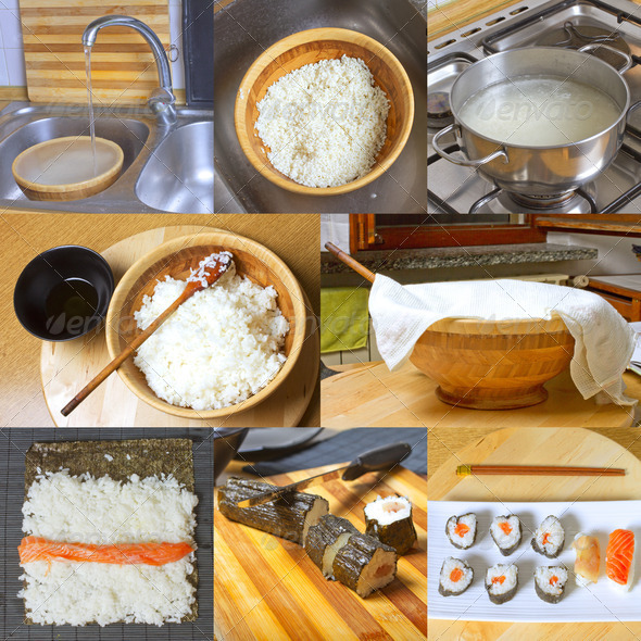 Homemade sushi - Stock Photo - Images