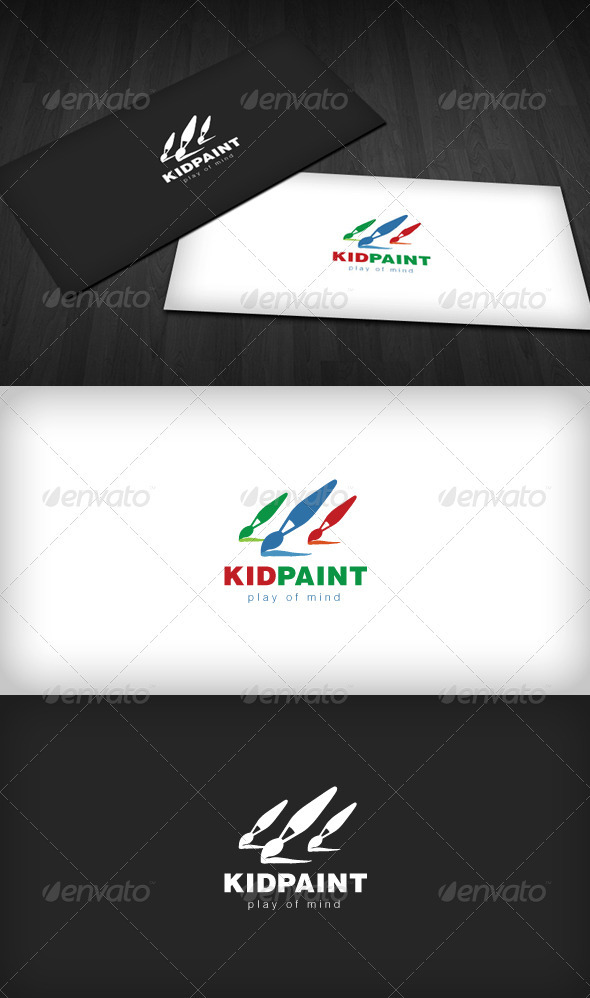 Kid Paint Logo - Symbols Logo Templates