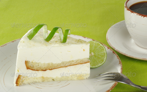 Lime Cake with Coffee - Stock Photo - Images