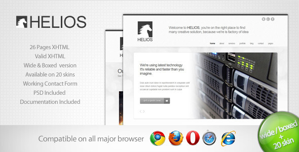 ThemeForest Helios Minimalist Business Template 7 785024