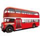 red double decker bus - GraphicRiver Item for Sale
