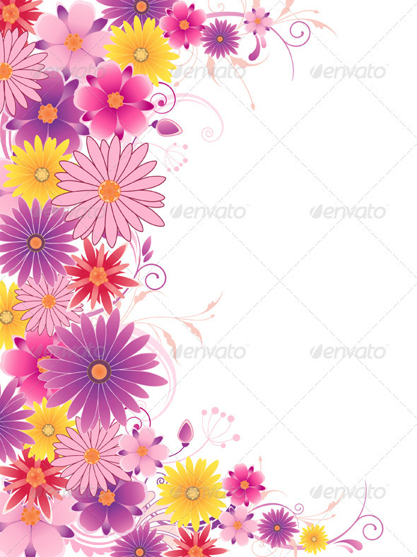 Bright Floral Background - Backgrounds Decorative