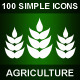 100 Simple Icons • AGRICULTURE •  - GraphicRiver Item for Sale