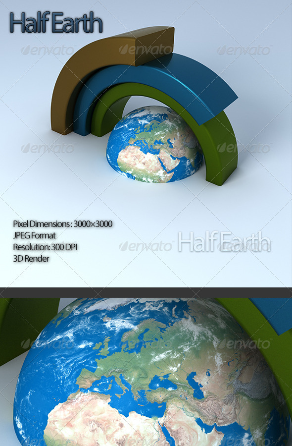 Half Earth - 3D Renders Graphics