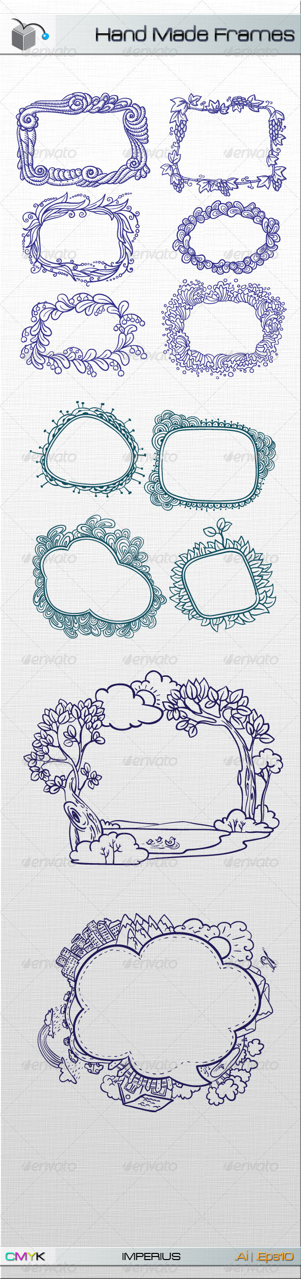 Hand Made Frames - Decorative Vectors