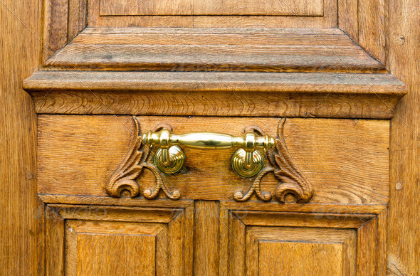wooden door - Stock Photo - Images