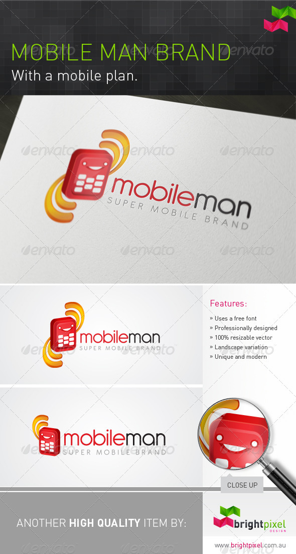 Mobile Man Brand - Objects Logo Templates
