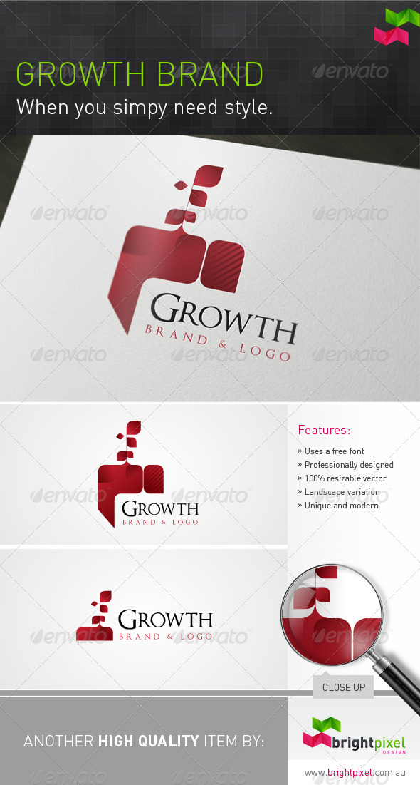 Growth Brand - Nature Logo Templates