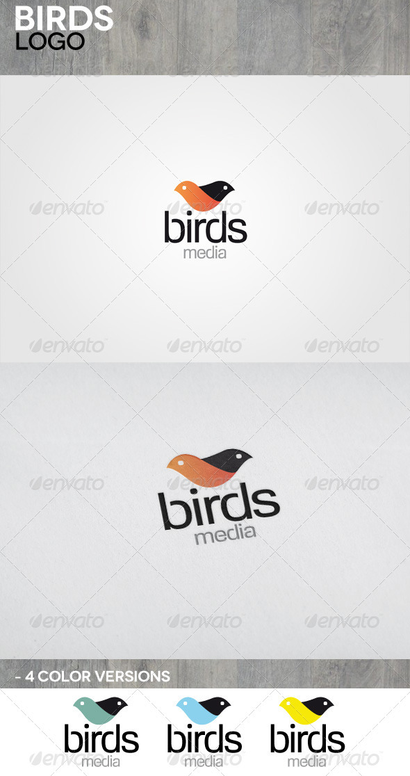 Birds Media Logo - Animals Logo Templates
