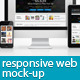 Responsive Web Layout Mockup - GraphicRiver Item for Sale