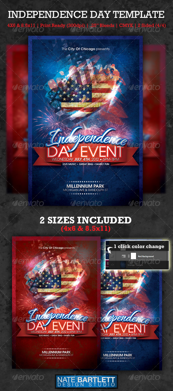 Independence Day Template - Clubs &amp; Parties Events