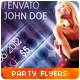2 Modern Party Flyers / Club Posters - GraphicRiver Item for Sale