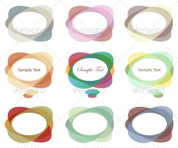 Abstract Dialog Clouds And Speech Bubbles - Decorative Symbols Decorative
