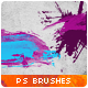 30 Low-Poly / Polygonal / Geometrical Photoshop Brushes #3