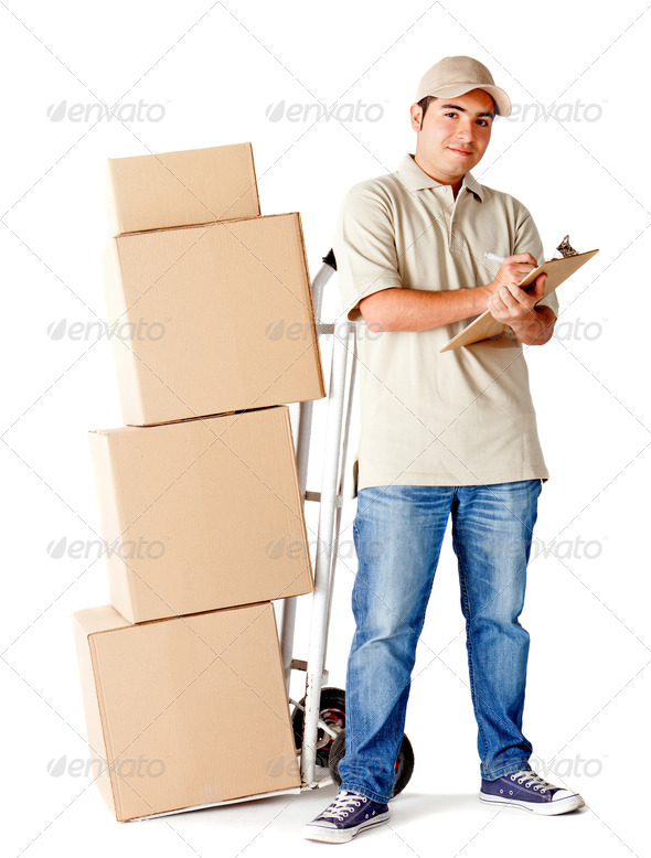 Delivery man - Stock Photo - Images