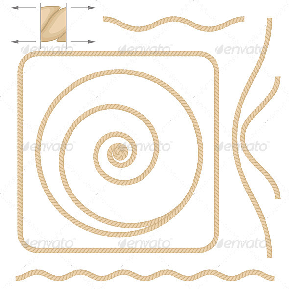 Abstract beige rope - Patterns Decorative