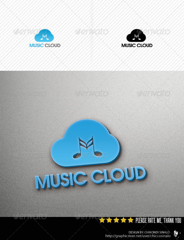 Music Cloud Logo Template - Abstract Logo Templates