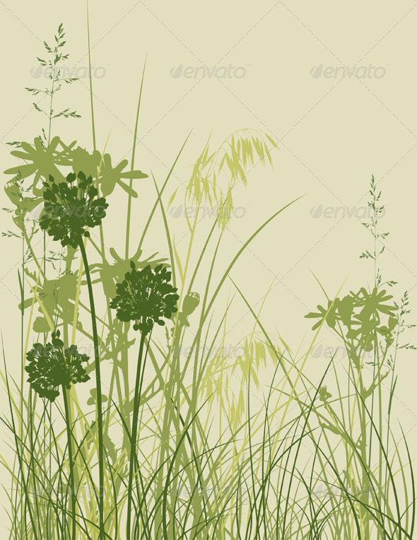 Green Grass Background - Flowers &amp; Plants Nature